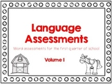 Language Assessments, Volume 1