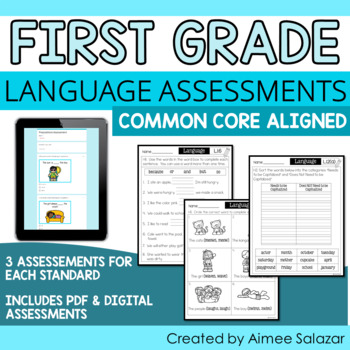 Language Assessments for First Grade