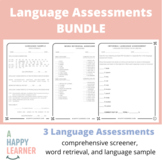 Language Assessments for SLPs | Vocab, Reading, Syntax, Ph