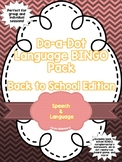 Language BINGO Pack: Back to School Edition
