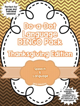 Language BINGO Pack: Thanksgiving Edition