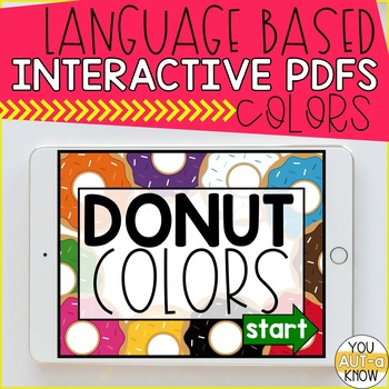 Language Based Interactive PDF Activities: COLORS EDITION