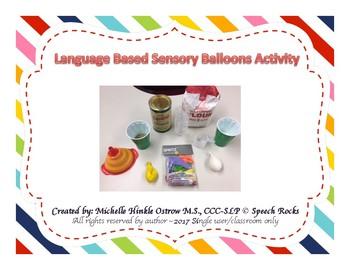 Language Based Sensory Balloon Activity