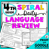 Daily Language Spiral Review Morning Work | Homework - 4th Grade