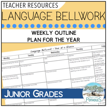 Language Bellwork Plan for the Year - weekly outline