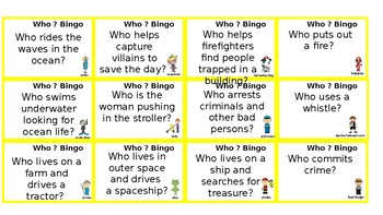 Language Bingo: Who Questions