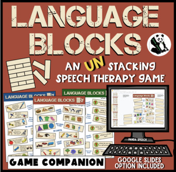 Language Blocks: A Speech Therapy UN-stacking Game! Low-Prep!