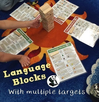 Language Blocks: A Speech Therapy UN-stacking Game! Low-Prep! (game companion)
