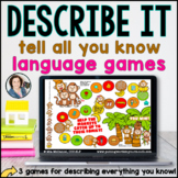 Language Board Games - Describe ALL you know | BOOM CARDS™