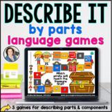 Language Board Games | Describe Parts | BOOM CARDS™