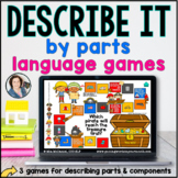 Language Board Games - Describe Parts | BOOM CARDS™
