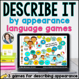 Language Board Games | Describe by Appearance | BOOM CARDS™