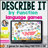 Language Board Games | Describe by Function & Use | BOOM CARDS™
