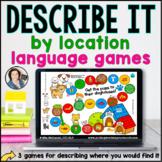 Language Board Games | Describe by Location | BOOM CARDS™