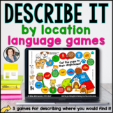 Language Board Games - Describe by Location | BOOM CARDS™