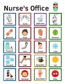 Language Board for Nurse's Office