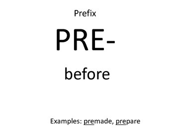 Language! Book E prefixes, suffixes and root words