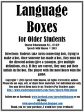Language Boxes for Older Students