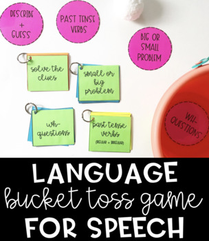 Language Bucket Toss Game for Speech