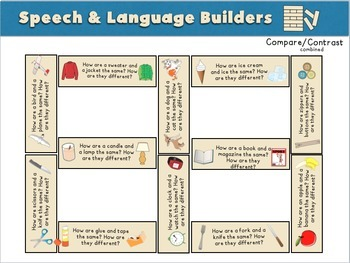 Language Builders: A Speech Therapy Building Game! Low-Prep
