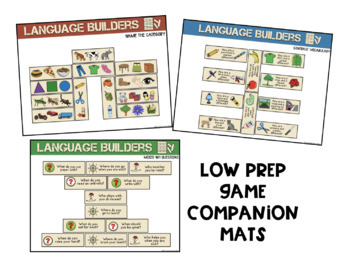 Language Builders: A Speech Therapy Building Game! Low-Prep (game companion)