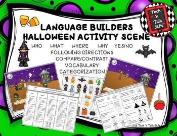 Language Builders Activity Scenes  - Bundle #1 August - September - October