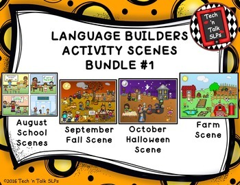 Language Builders Activity Scenes  - Bundle #1 August - Se