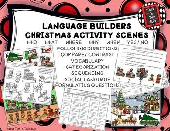 Language Builders Activity Scenes  - Bundle #2 November - December - January