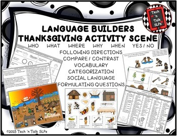 Language Builders Activity Scenes  - Bundle #2 November - December - January