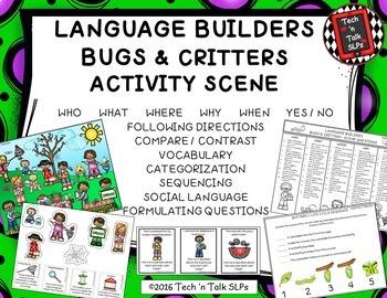Language Builders Activity Scenes  Bundle #4 May - June - July