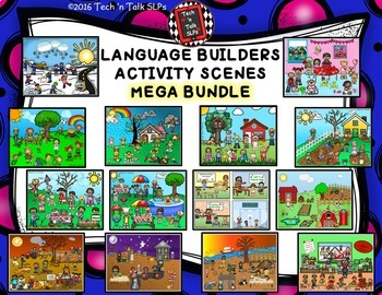 Language Builders Activity Scenes  - MEGA BUNDLE