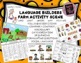 Language Builders Farm Activity Scene