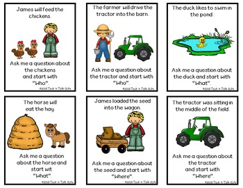 Language Builders Farm Activity Scene