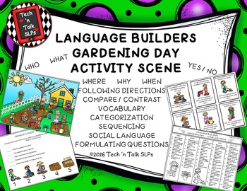 Language Builders Gardening Day Activity Scene