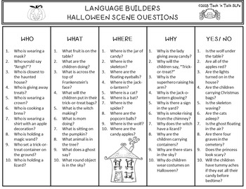 Language Builders Halloween Activity Scene