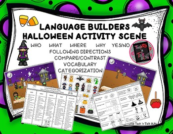 Language Builders Halloween Activity Scene
