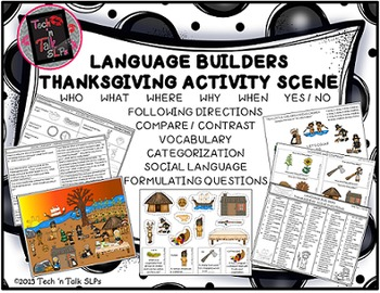 Language Builders Thanksgiving Activity Scene