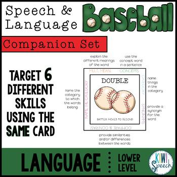 Language COMPANION SET for Speech and Language Baseball (Lower Level)
