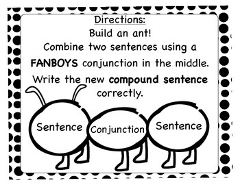 Language Center: Writing Compound Sentences