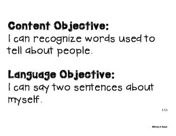 Language Central - Daily Content and Language Objectives - Units 1-3 - 2nd Grade