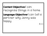 Language Central Grade 1 Content and Language Objectives
