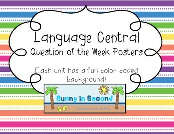 Language Central - Question of the Week Posters - 2nd Grade