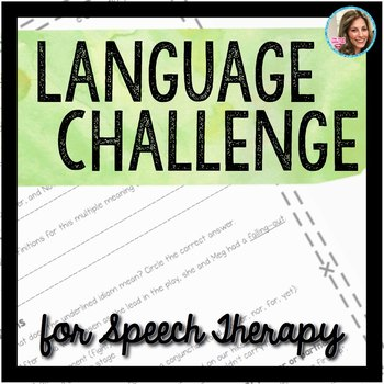 Speech and Language Therapy | Language Activities | Speech Therapy