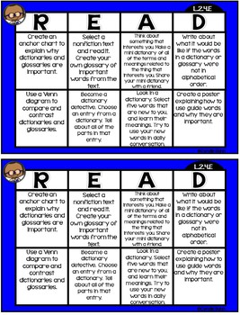 Language Choice Boards
