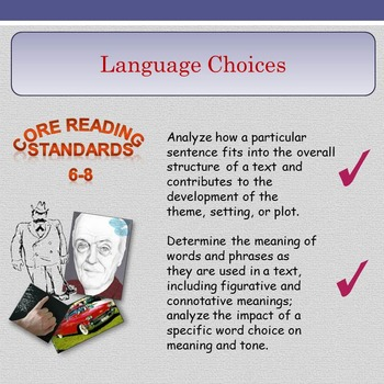 'Language Choices' - Grammar and Literary Devices