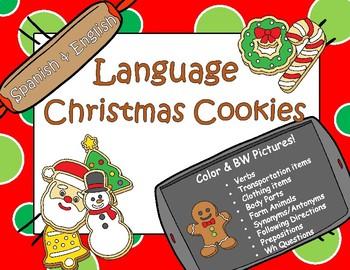 Language Chrstmas Cookies English & Spanish!