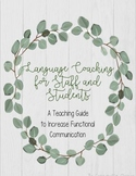 Language Coaching for Staff and Students