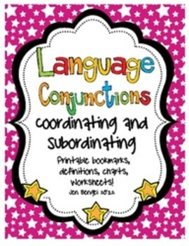 Language Conjunctions: Coordinating & Subordinating Printables with CCSS!!