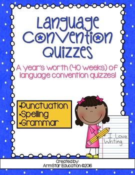 Language Convention Quizzes Bundle