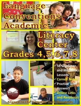 Language Conventions Academic Literacy Center Grades 4-8
